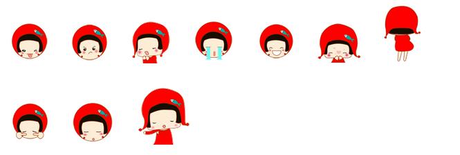 红色衣服的小女孩表情,头上戴着红色的小帽子,干净的短发,表情很可爱