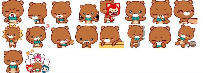 大熊可爱qq表情包 图片预览图片