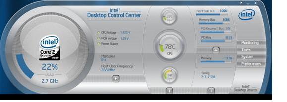 Intel Desktop Control Center(主板状况监控和主板超频)V5.5.1.84 绿色版