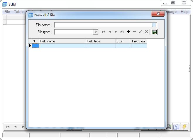 dbf编辑器(Sdbf)V4.1 绿色免费版