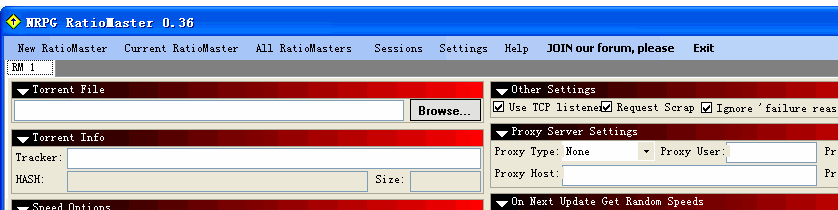NRPG RatioMaster(控制上传下载的流量)V0.41 英文绿色免费版