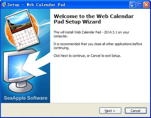 Web Calendar Pad(桌面日历制作工具)V2014.3.1 安装版