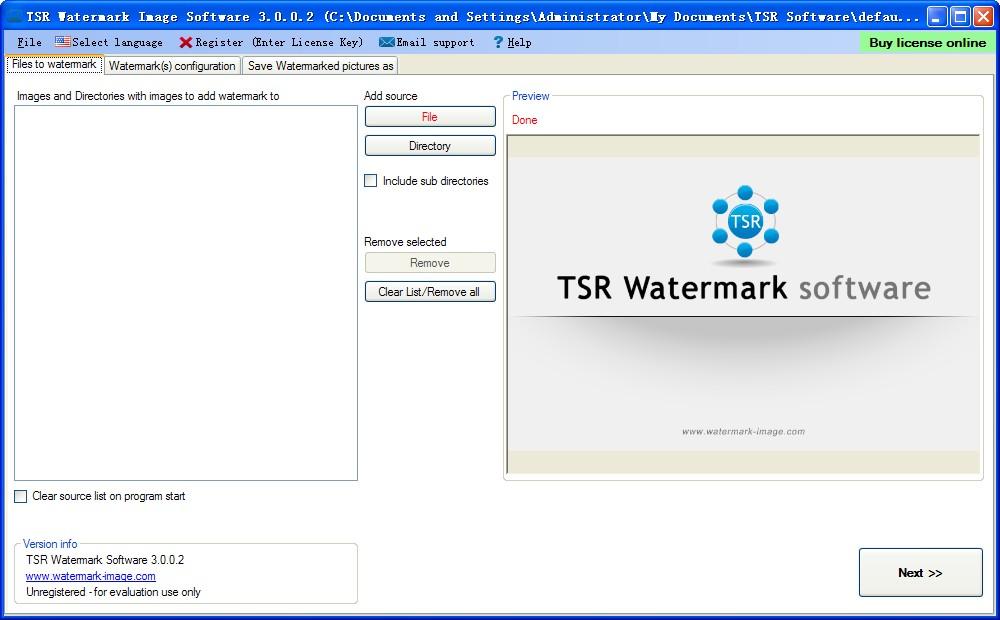TSR Watermark Image(水印图像软件)V3.1.0.6 绿色免费版