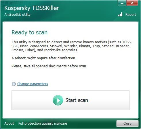 Kaspersky TDSSKiller(病毒专杀工具)V3.0.0.37 绿色版