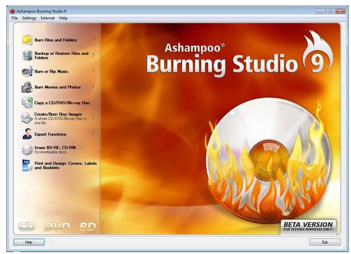 Ashampoo Burning Studio 2009(CD/DVD刻录工具)V9.10 多国语言绿色版截图1