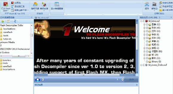 Flash反编译软件V5.3.1370 汉化破解版