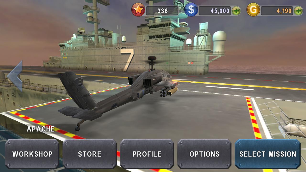 炮艇战:3D直升机(GUNSHIP BATTLE:Helicopter 3D)V2.7.37 无限金币版