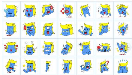 蓝香蕉表情包图片