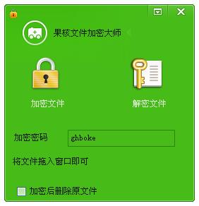 果核文件加密大师V1.0 绿色版