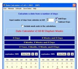 Date Calculator(日期计算器) V2.3 绿色版