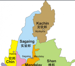 缅甸地图 中文版