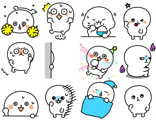 微信紧张的小白表情_微信紧张的小白qq表情包下载
