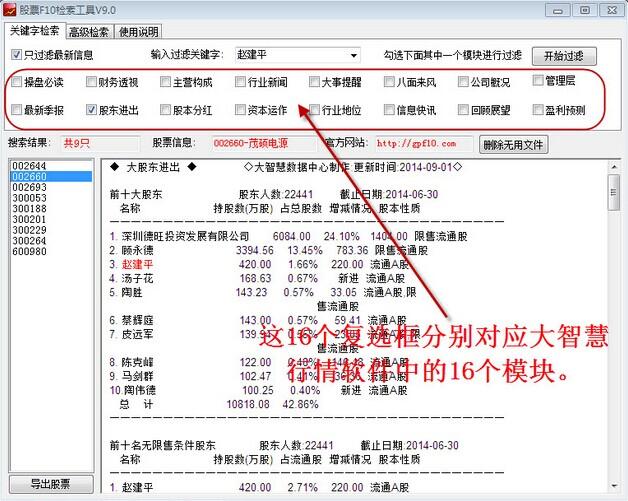股票F10检索工具V9.0 最新版