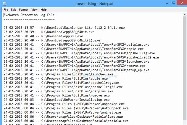 ExeWatch监视已执行软件V1.34 绿色版