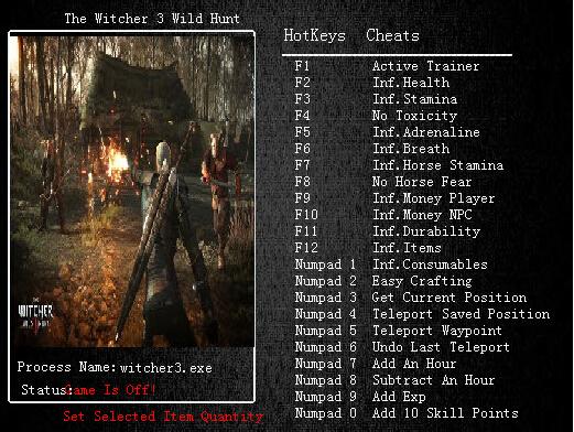 巫师3:狂猎修改器+23V1.03 绿色版