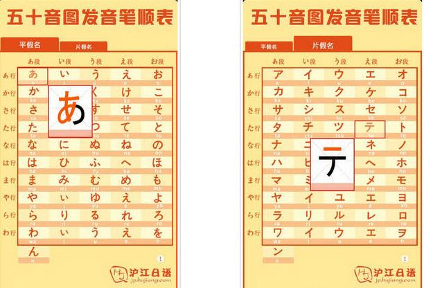 巨笔顺笔画顺序-语五十音图发音笔顺表V1.1 安卓版大图预览 沪江日语五十音图发音