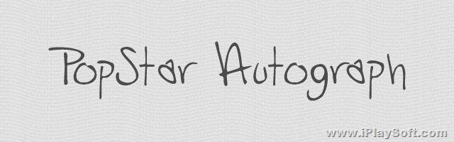 25款英文手写签名精选字体