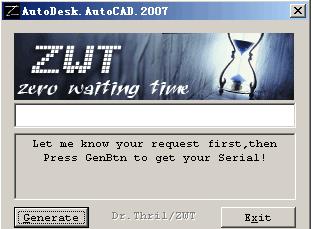 AutoCAD 2007 注册机(autocad2007激活码序列号)电脑版