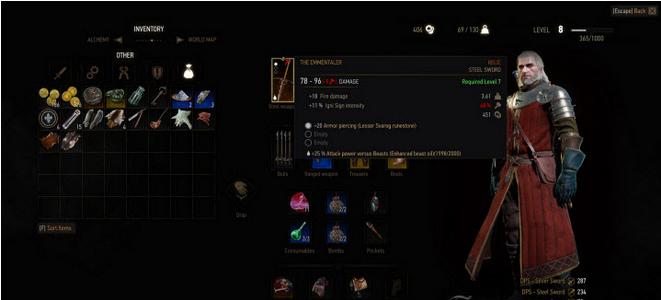 巫师3:狂猎武器涂油效果持久50倍mod