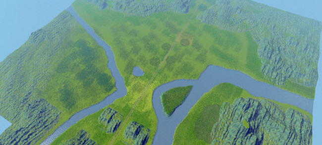 城市:天际线盆地地图mod