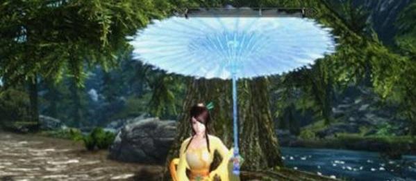 上古卷轴5:天际五款梦幻彩色雨伞mod