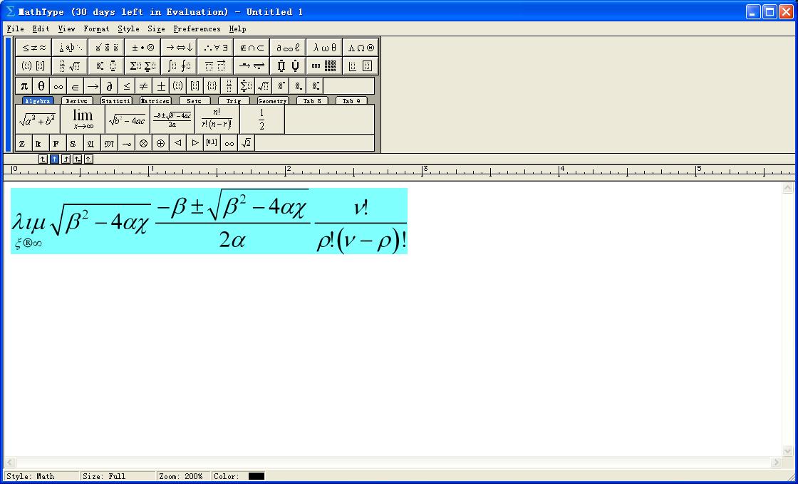 Word和WPS 数学公式编辑器:MathTypeV6.9 汉化绿色版
