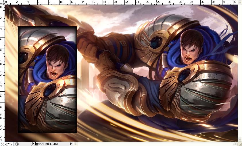 英雄简介:德玛西亚之力(盖伦)是《英雄联盟》中的一位英雄,也是国服