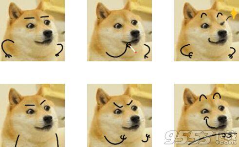 变异的神烦狗qq表情包图片