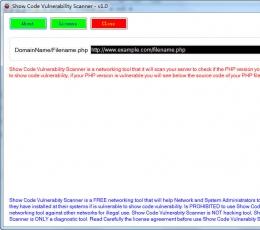 Show Code Vulnerability Scanner(php漏洞扫描工具) V1.0 绿色版