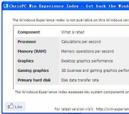 win8硬件检测工具_ChrisPC Win Experience IndeV1.05最新版下载
