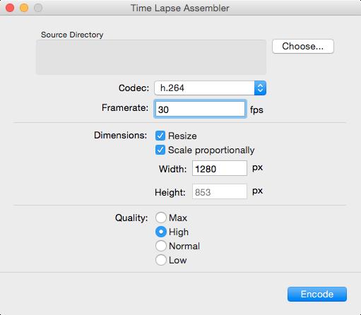 Time Lapse Assembler for MacV1.5.3 官方版