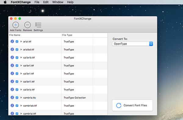 FontXChange Mac版V5.1 官方版