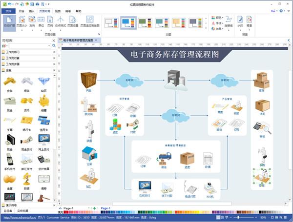 亿图流程图制作软件V8.7.4.0 电脑版