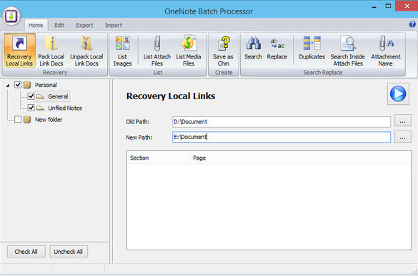 OneNote Batch批量处理器V20.2.0.123 电脑版