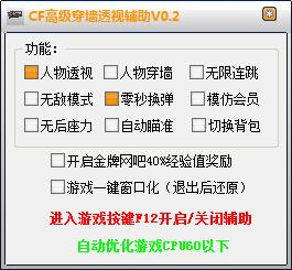 CF高级穿墙透视辅助V1.0 绿色免费版