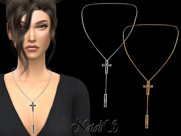 模拟人生4NataliS金属十字架锁套小项坠MOD游戏补丁
