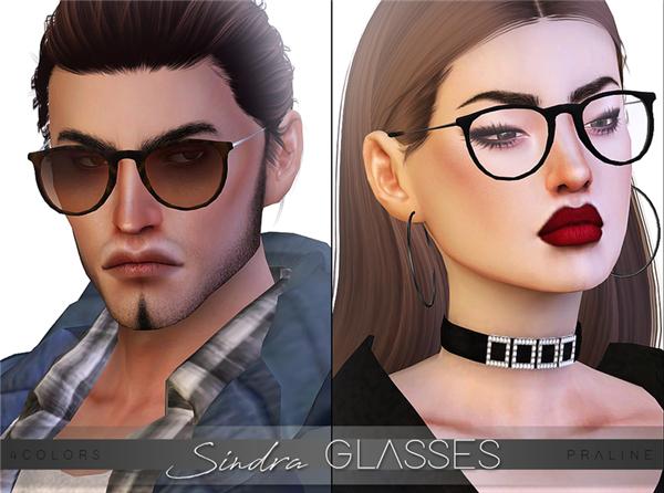 模拟人生4Sindra黑框眼镜MOD游戏补丁