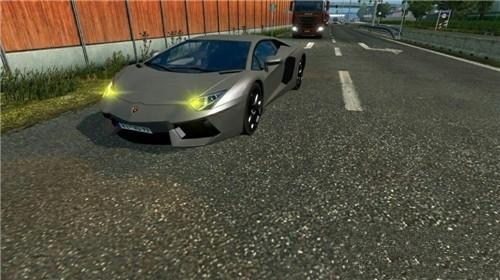 欧洲卡车模拟2兰博基尼跑车MOD游戏补丁