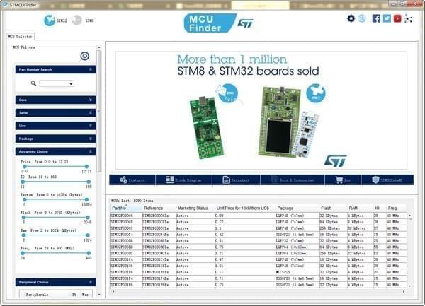 电气选型工具STMCUFinderV1.0.0 官方版