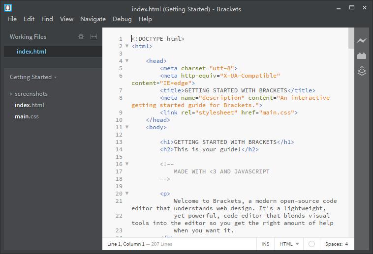 brackets(文本编辑器)V1.9 正式版