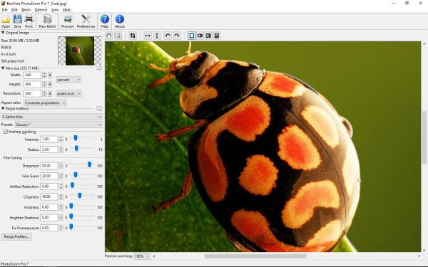 PhotoZoom(图片无损放大工具)V7.1.0 便捷版