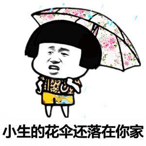 抖音小生的花伞还落在你家表情包图片