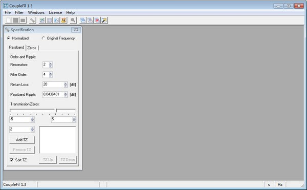 CoupleFil(滤波器耦合矩阵计算器)V1.3 官方版