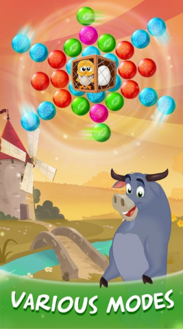 经典泡泡龙游戏,发射一颗球去打其他的,如果相同颜色球数量超过3个,就可以清除掉!加入新的99球模式,挑战速度和技巧极限!