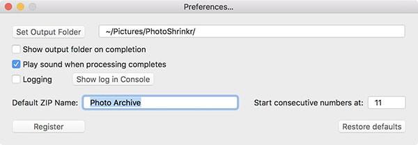 PhotoShrinkrV1.0.5 Mac版