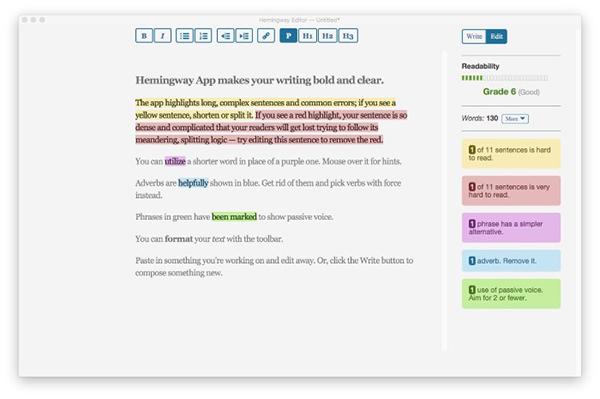 Hemingway EditorV3.0.3 Mac版