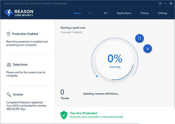 Reason Core Security(恶意软件删除工具)V2.4.1.0 免费版