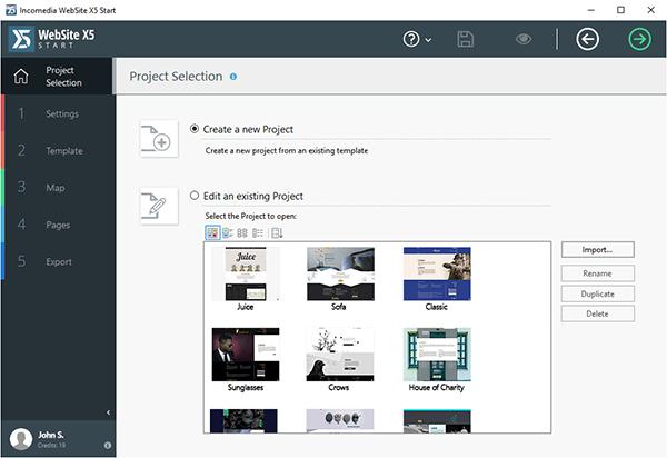 WebSite X5 Start 17(可视化网页设计软件)V17.0.8 免费版