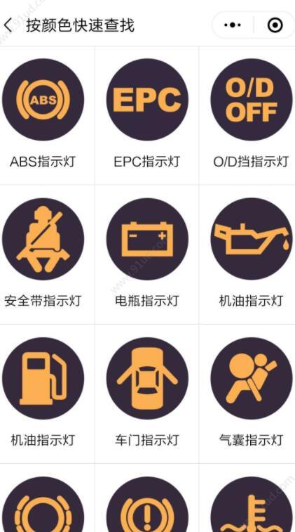 汽车仪表盘指示灯