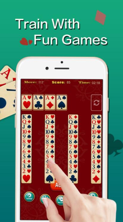 单人纸牌游戏2V1.0 苹果版